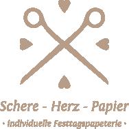 Schere-Herz-Papier – individuelle Hochzeitspapeterie